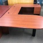 Hon 10700 U Shape Style Executive Desk Henna Cherry Surplus Office Equipment