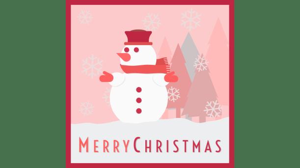 Snowman_Merry_Christmas_bw