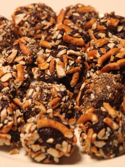 Guinness pretzel truffles