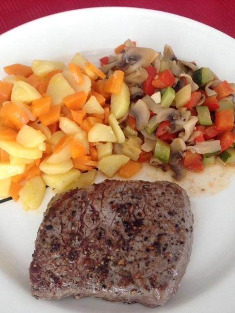 steak ratatouille