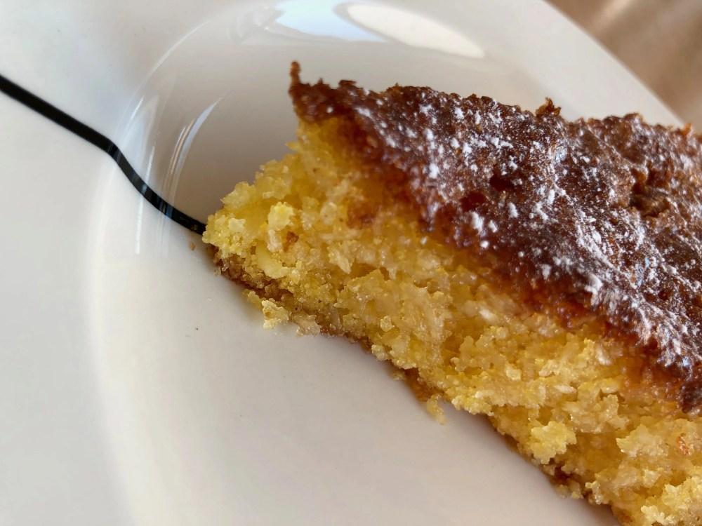 refreshing polenta coconut cake with lemon