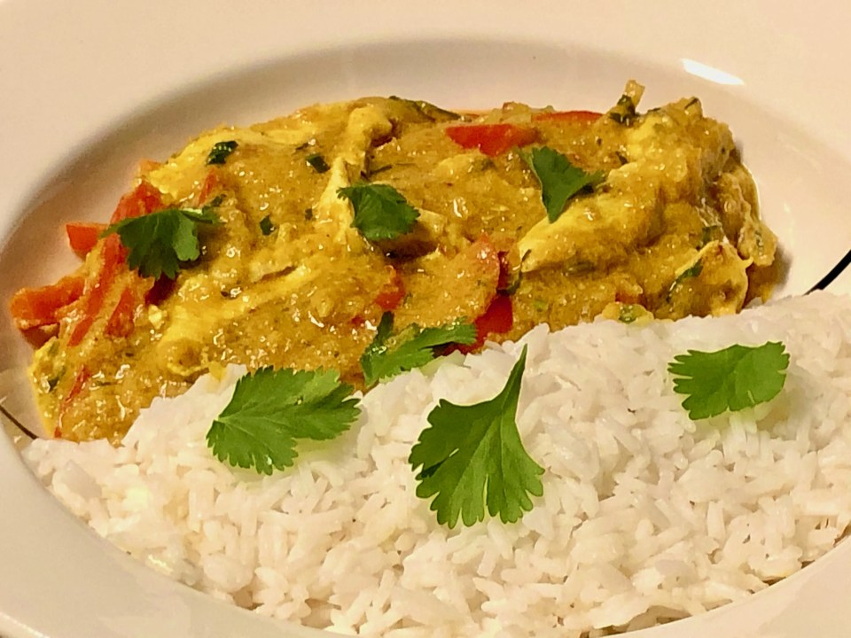 easy Thai pumpkin curry with chicken