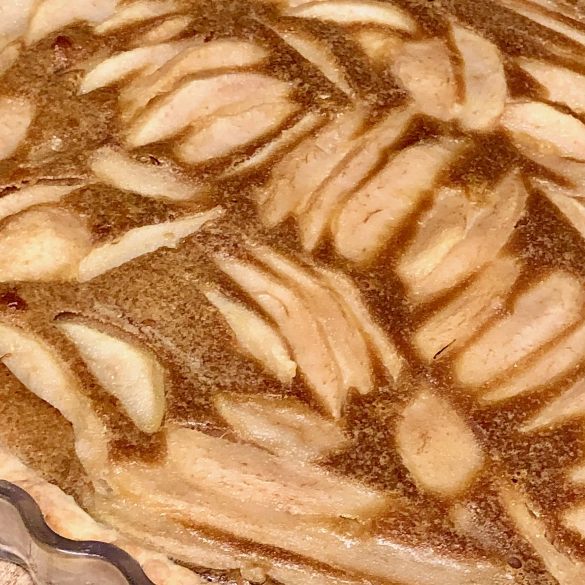 Biscoff pear pie