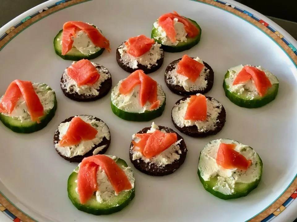 Boursin bites with smoked salmon