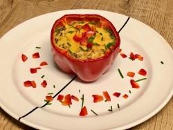 English breakfast in a bell pepper