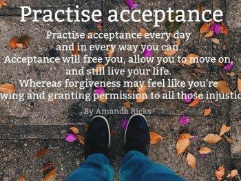 practise acceptance by Amanda Ricks via surprisinglives.net