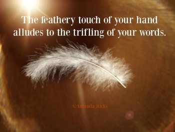 your featherly touch image quote
