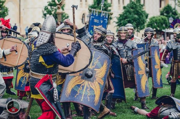 Razboi intre daci si romani - reenactment