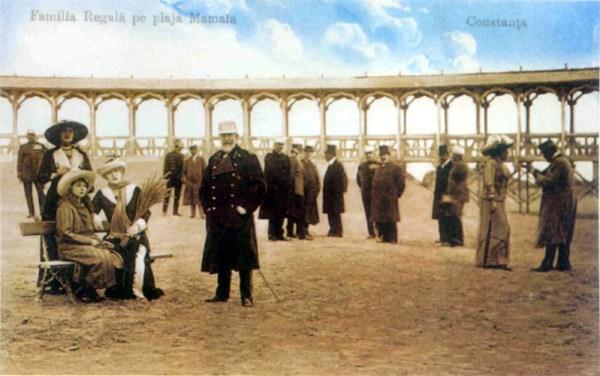 Constanta - Familia Regala pe plaja Mamaia
