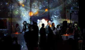 Generation 244 immersive projection at 21c Museum Hotel grand opening, 2013.04.20.