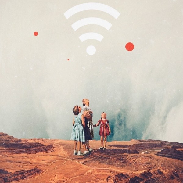 Wirelessly Connected to Eternity - by Frank Moth