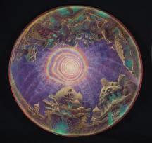 Traveler's Moon by Mara Holden 41 X 41 : 2001-2003 : oil on wood