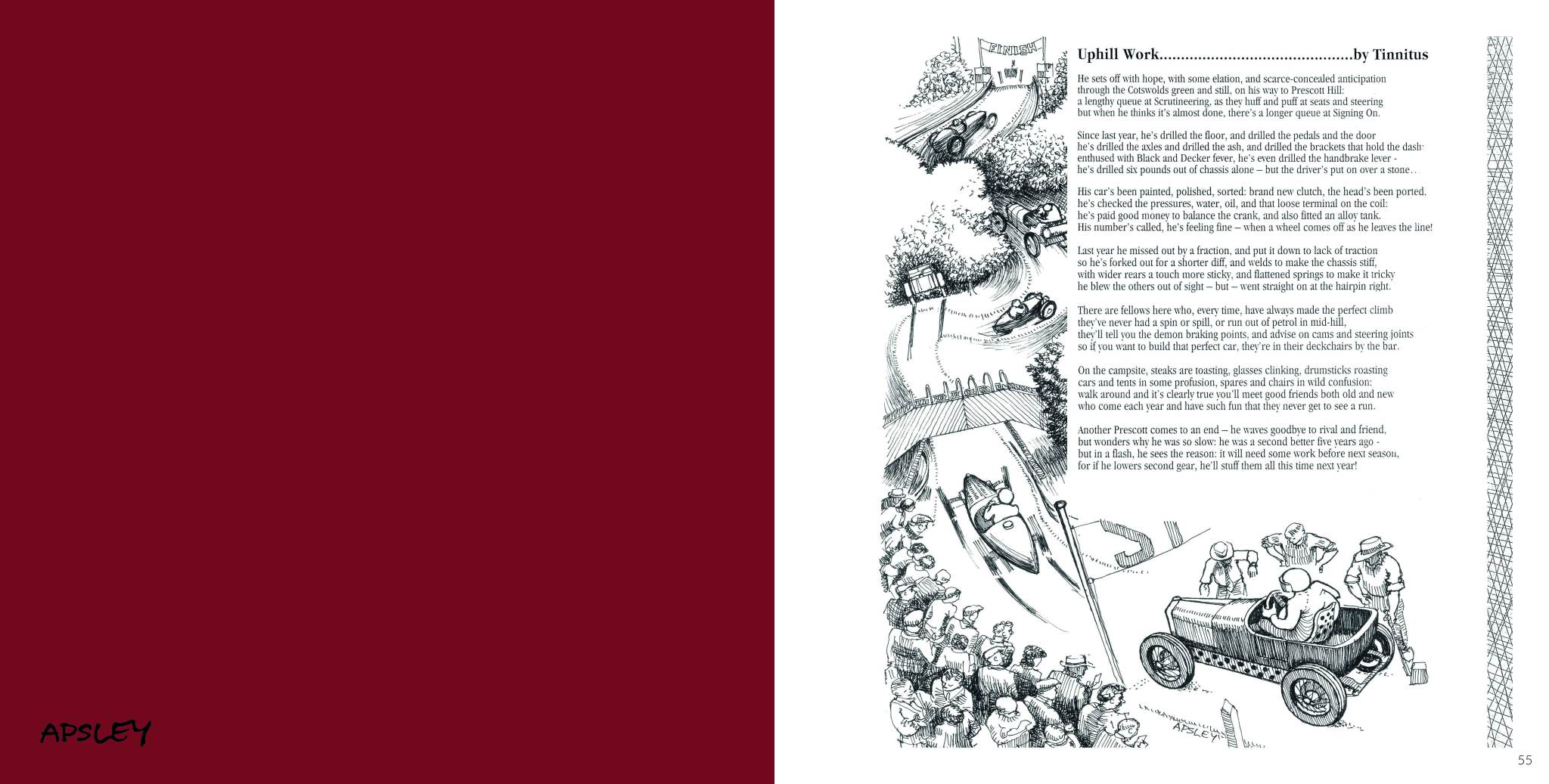 Sample Page | Uphill Workwritten by Tinnitus and Car Darawings by Apsley | Aplsey and Old Cars