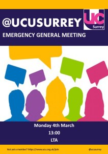 190304 Surrey Emergency General Meeting poster