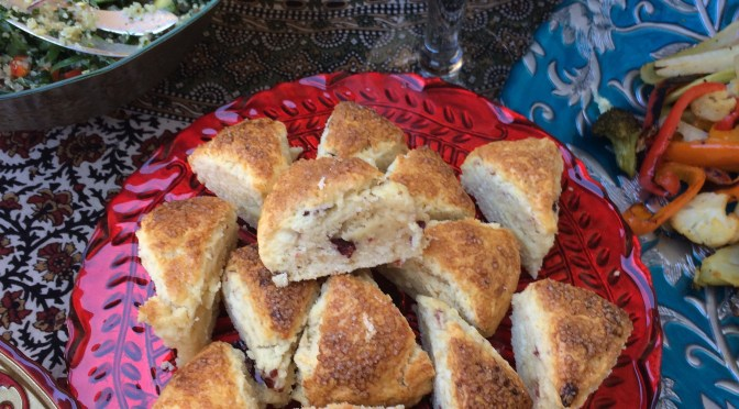 An English Style High Tea. Cranberry Scones. A Menu Worth Replicating