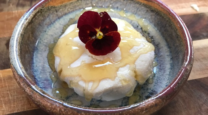Edible Flower and Herb Embellished Goat Cheese