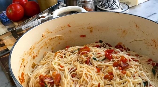 Pasta Pomodoro with Fresh Tomato and Basil