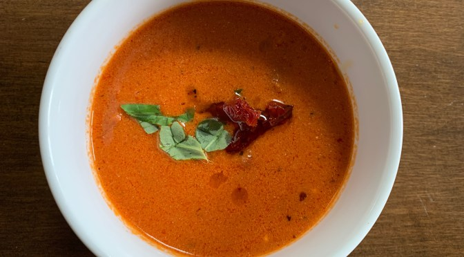 Oven Baked Tomato Bisque for a Valentine's Day Lunch with Dear Friends