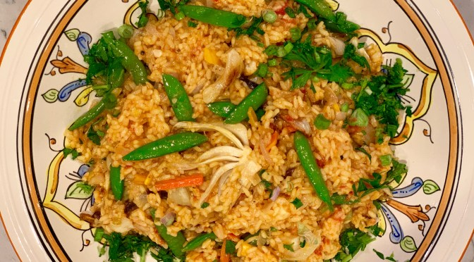 Paella with Spring Vegetables