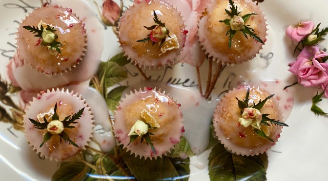 Rose and Ginger Cupcakes