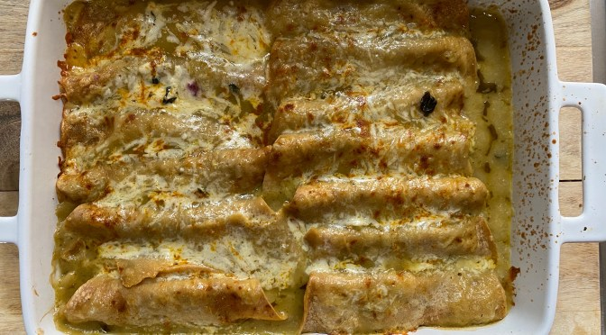 Artichoke Kale Enchiladas