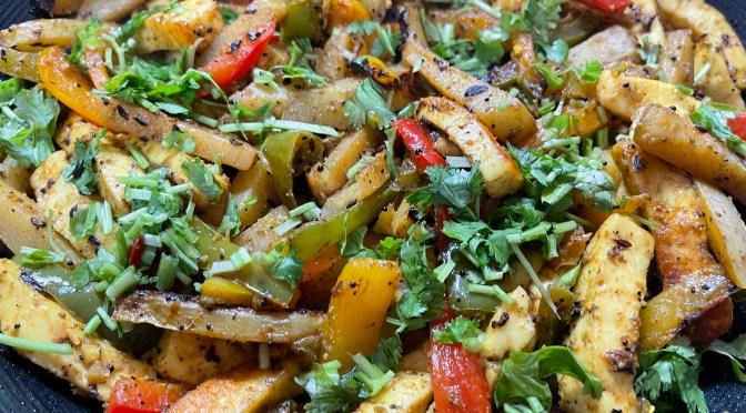 Bell Pepper Potato Paneer Sabzi