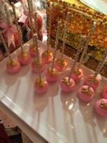 Pink Gold Cake Pops