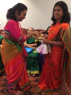 Uma in the orange sari