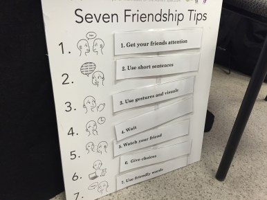 During the friendship presentation today, students learned different tips to start and develop friendships. Then they practiced these skills with puppets. Ask your child about a friendship tip they learned about.