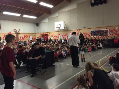 Remembrance Day 2016. Each class had an opportunity to present at the assembly today. Our class shared they poems they wrote about peace. Students did a great job remembering that the assembly is a 'solemn' event. Ask your child about why we commemorate Remembrance Day.