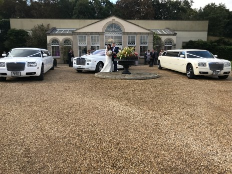 Two Chrysler Limousines, Rolls Royce Phantom, Wedding Limo Hire.