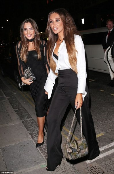 Country Singer & Towie's Megan Mckenna on her 25th Birthday in our Chrysler Limousine. Lance in the background looking more like security than a limo driver. .