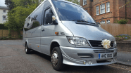 Silver Mercedes Party Bus Hire - 16 Seater