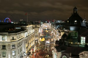 Regent Street Christmas Lights - Limo Hire London