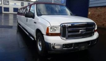 Ford Excursion - White & Red