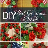 DIY Red Geranium Wreath