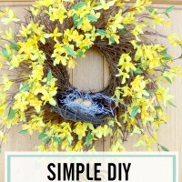 Discover How to Quickly Design a Simple Forsythia Wreath