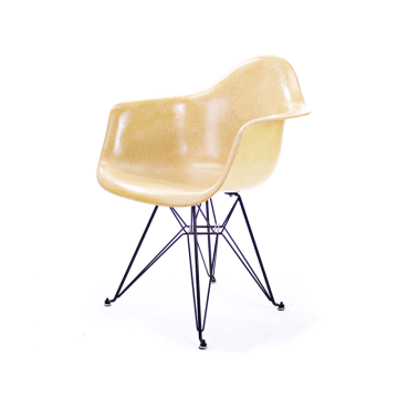 Ochre DAR Chair by Charles & Ray Eames for Herman Miller