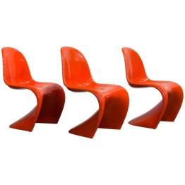 Orange Stacking Chair by Verner Panton for Herman Miller, 1970s