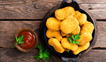 nuggets de pollo, trozos de pollo