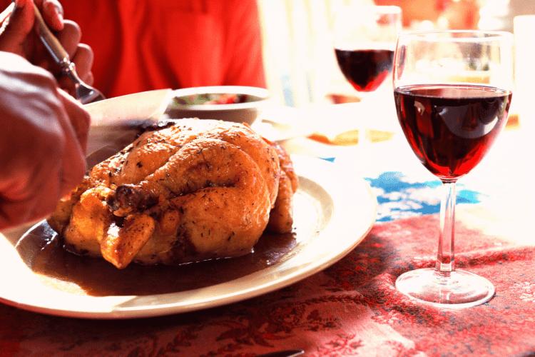 pollo al vino, comer pollo, pollo al horno, recetas fáciles con pollo,