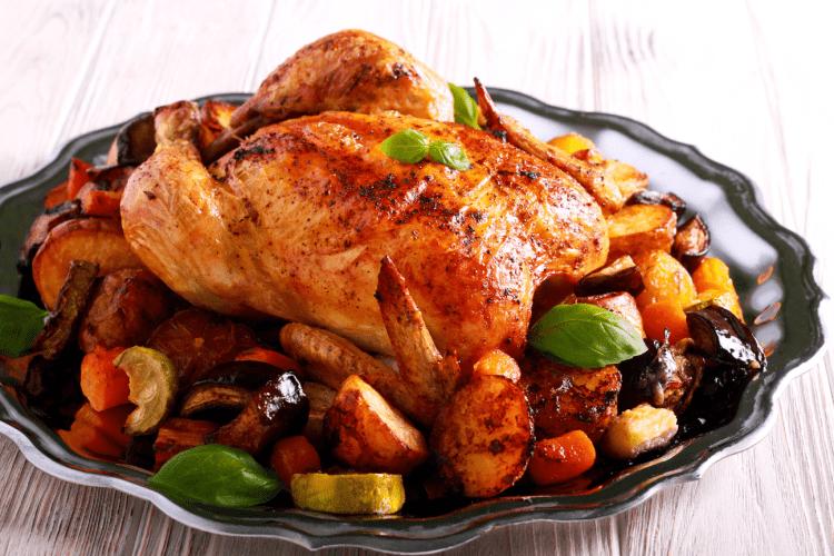 pollo asado, pollo horneado, pollo a las brasas,