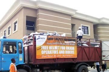 Free Helmet for Okada operators and Riders