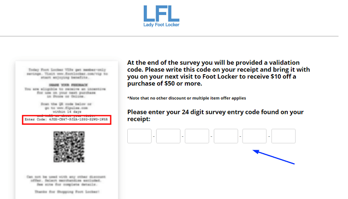 Lady Foot Locker Survey