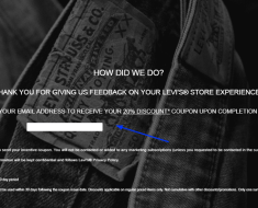 Levi's Customer Survey