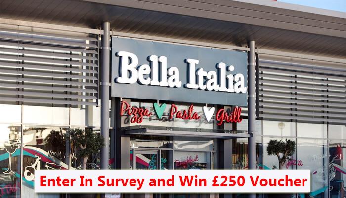 Bella Italia Feedback Survey