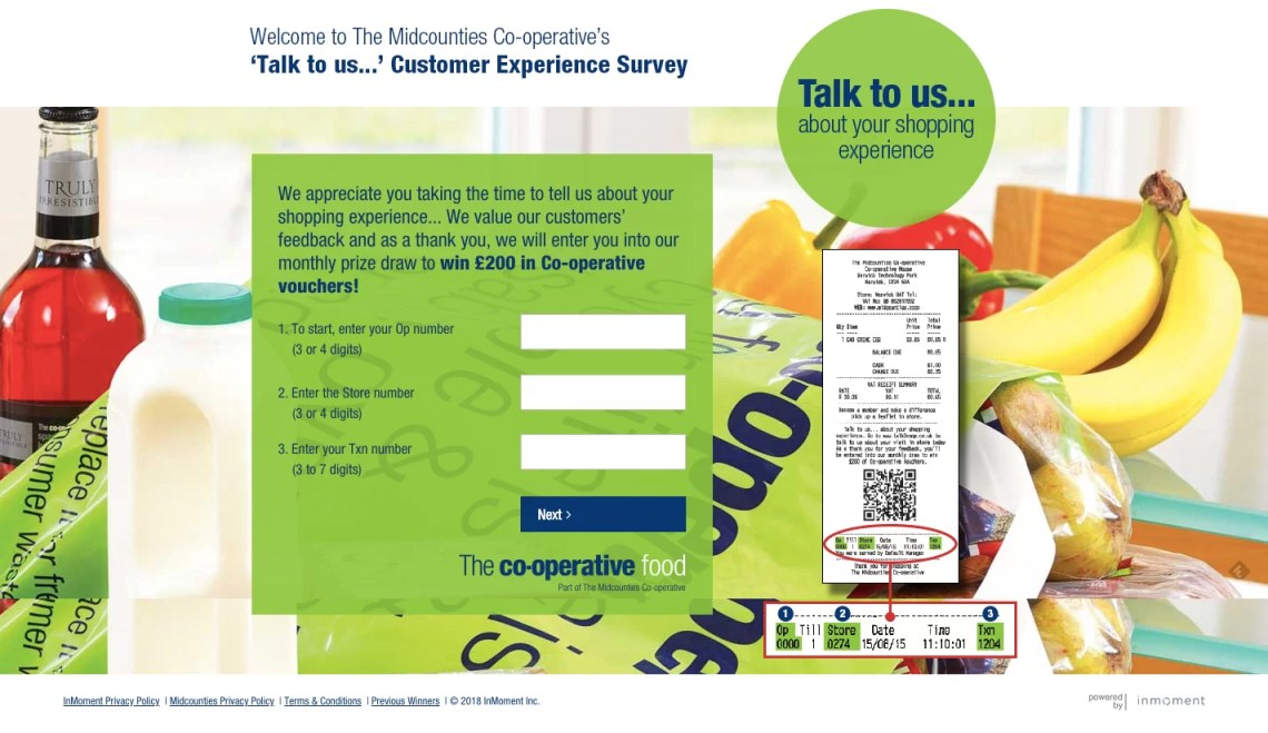 Midcounties Co op Customer Satisfaction Survey Midcounties Co op Feedback Survey