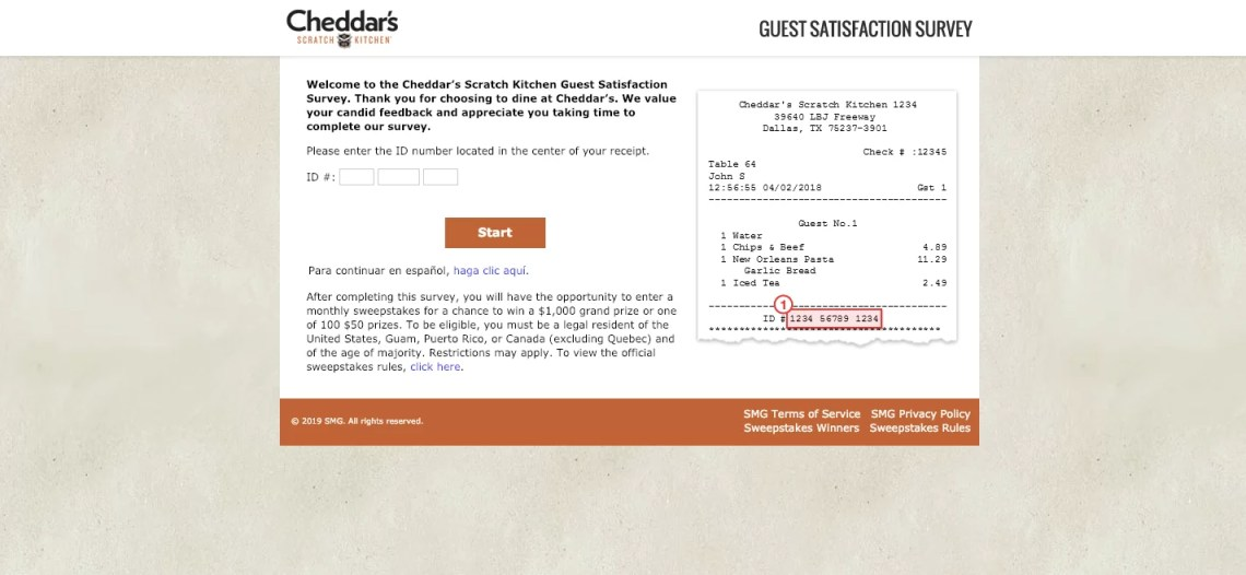 Cheddar s Scratch Kitchen Guest Satisfaction Survey