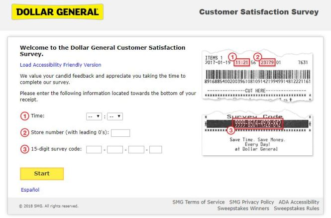 Dollar General Customer Satisfaction Survey @dgcustomerfirst.com