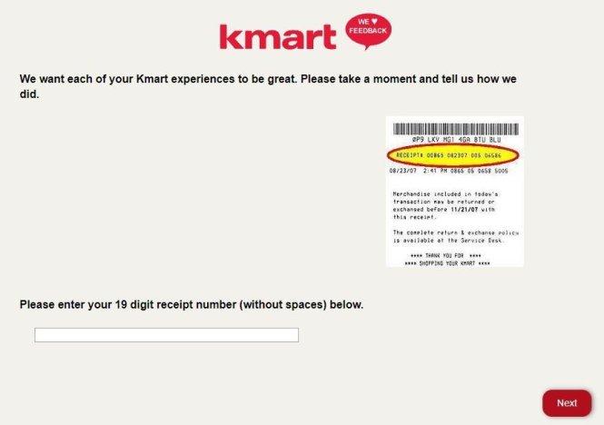 Kmart Feedback Survey